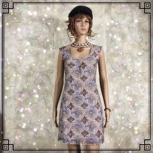 Flutter Sleeve/Hem Fully Lined Sweet Mini Dress S